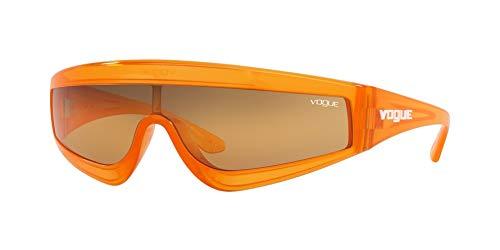 VOGUE Women's 0vo5257s Rectangular Sunglasses, Transparent Orange, 0 mm ()