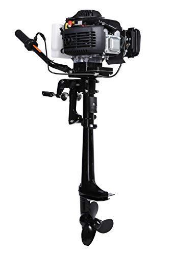 - LEADALLWAY 4HP Outboard Motor Four Stroke Air-Cooled Boat Engine for Inflatable Small Fishing Boat 4T 4.0+