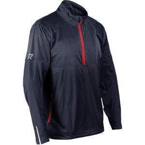 (Sun Mountain Mens Rainflex 1/2 Zip Pullover Navy/Navy 2XL)