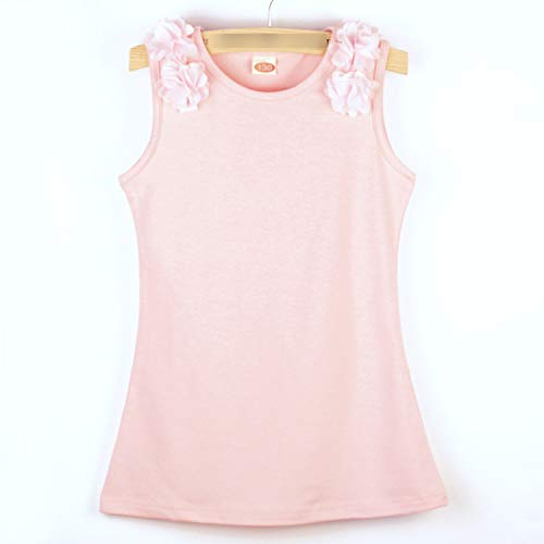 Summer Dress Mesh Girls Toddler Kids Baby Girl Floral Solid Dress Casual Princess Party Dress Sundress Pink 3T