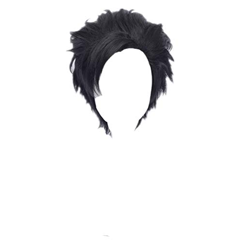 Kadiya Boys Cosplay Wig Full Hair Heat Resistant Black Fashion Synthetic Hair -