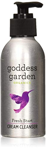 Garden Care Skin (Goddess Garden Organics Fresh Start Invigorating Cream Cleanser for Sensitive Skin (4 oz. Bottle) Certified Organic, Vegan, Leaping Bunny Certified Cruelty-Free, Paraben-Free, Certified B Corp)