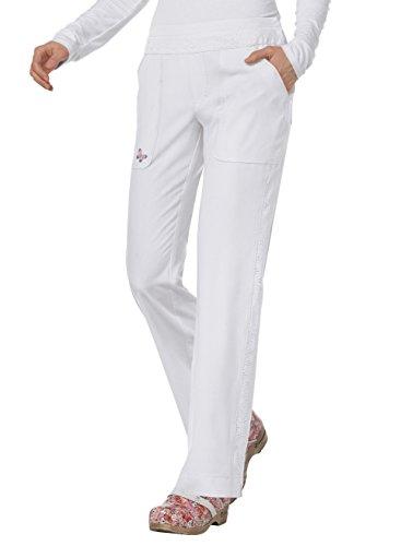Mariposa by Koi Women's Maddi Yoga-Style 4 Pocket Pant- White- XX-Small ()