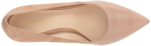 Nine Pump Women's Light Tijoo Natural West Light Natural Leather Leather rwPZqrpIv