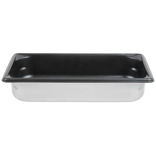 - TableTop King 70322 Super Pan V 1/3 Size Anti-Jam Stainless Steel SteelCoat x3 Non-Stick Steam Table/Hotel Pan - 2 1/2
