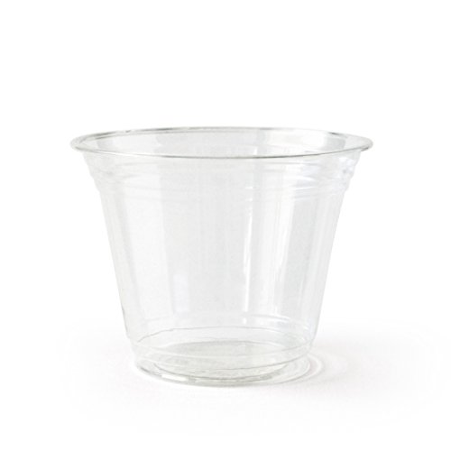Susty Party Compostable PLA Cup (50 Pack), 9 oz, Clear (Cups Biodegradable Cold)