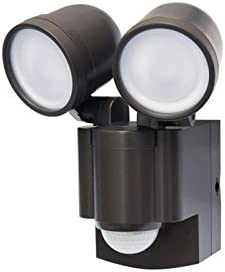 LB-1403BZ Battery Operated, Motion Security, Twin Head, LED Light Also Available in White