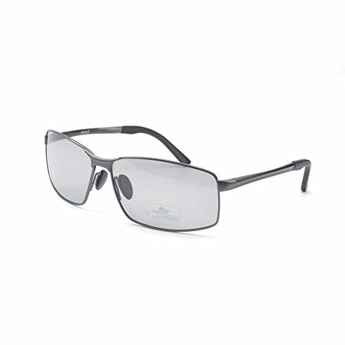 MINCL/Polarized Photochromic Lens Sunglasses Day and Night Al-Mg Frame Driving Photosensitive Sunglasses for Men (gun-photochromatic, - Photochromatic Sunglasses