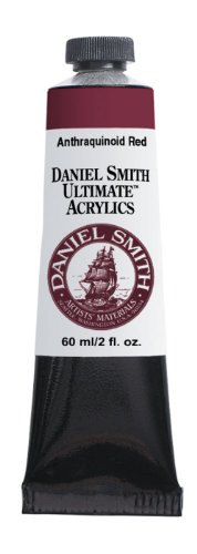 Daniel Smith 60ml Ultimate Acrylic Paint Tube, Anthraquinoid Red