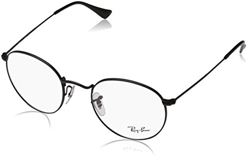 Ray-Ban Men's RX3447V Round Metal Eyeglasses Matte Black - Frames Ban Metal Ray