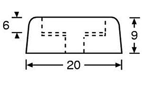 8er Set Gummifu/ß 25 x 11 mm schwarz im Beutel Adam Hall Hardware 4900 M8 AH