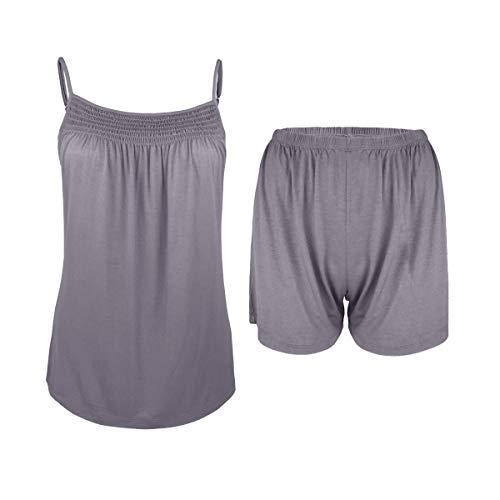 Sleepy Time Women's Bamboo Pajamas, Night Sweat Moisture Wicking Sleepwear -Summer Style (Small, Purple) (Best Pajamas For Night Sweats)
