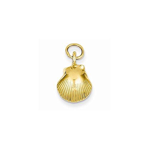 (14k Yellow Gold Seashell Pendant)