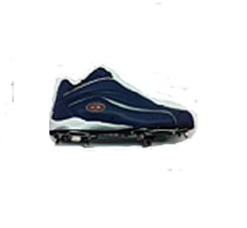 Easton Torden Midten Metall Baseball Cleats, Menns Baseball Blå 9 1/2