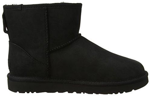 UGG Australia Mini Classic Leather, Zapatillas Altas para Mujer Negro (Nero)