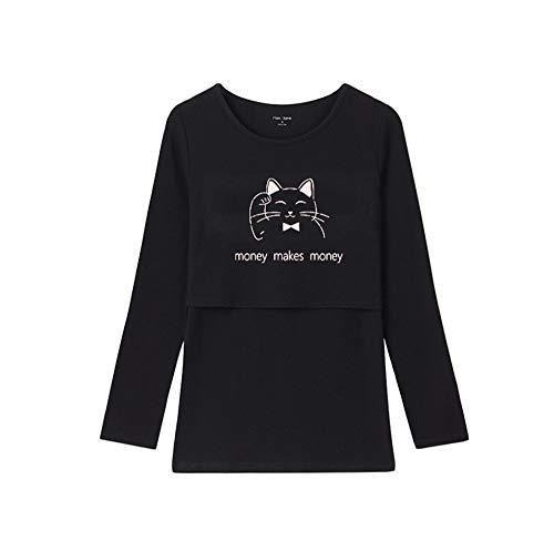 Black5 Maglietta Donna Donna Tayaho Top Gravidanza per Lunga Incinta Manica Shirt da Bluse T Maglietta Maternity Moda 1axwRqdtx