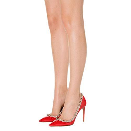 Yo Pannulla Tyylikäs Korkokenkiä Tikari Luistaa Naisten Teräväkärkiset Mekko 10cm Pumppujen Caitlin Kullanpunainen Nastoitettu Kengät Niitti 6ZETwSx