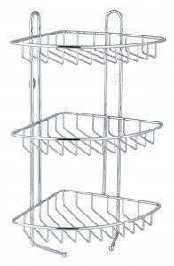 Stainless Steel 3 Tier Corner Shower Rack Amazoncouk Kitchen Home