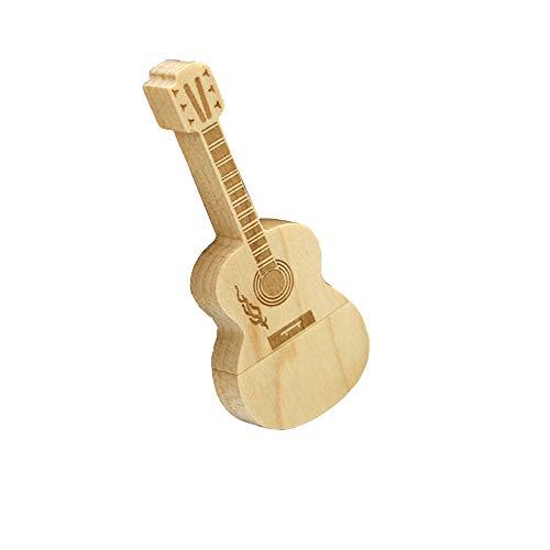 YJYdada USB 2.0 Flash Drive Novelty Mini Wooden Guitar Shape Pen Drive Flash U Disk (32G, A) ()