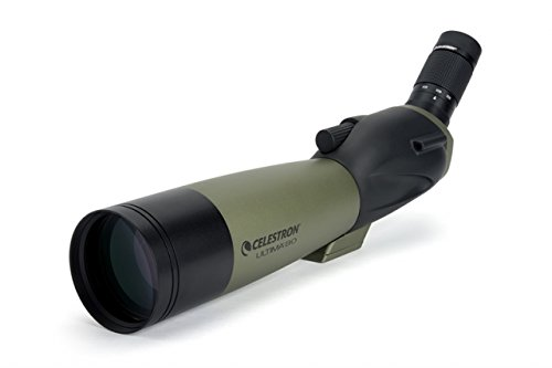 Celestron Ultima 80mm Angled Spotting Scope, Olive Green/Black w/Tripod 93606