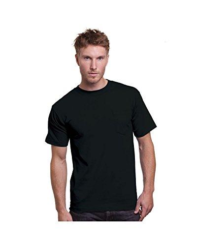 Bayside Adult 6.1 oz., Cotton Pocket T-Shirt S BLACK ()