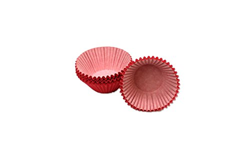 Kitchen Collection 100 Count Jumbo Size Paper Baking Cups Red 08721 - Jumbo Cupcake Wrappers