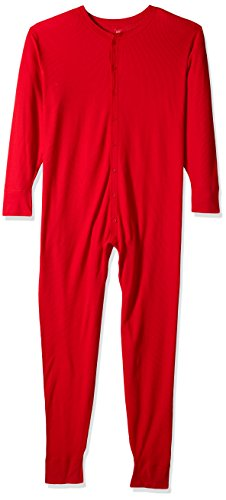 Hanes Men's Big and Tall Label X-Temp Unionsuit, Red, 3X Large