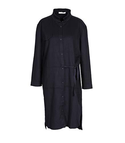 Ink Damen Dunkelblau in Woll Kleid HUMANOID qXwZpdp