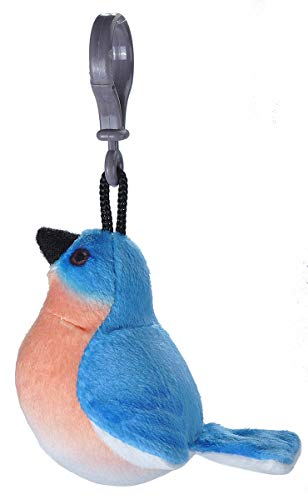 Wild Republic Eastern Bluebird Plush Clip, Stuffed Animal, Bird Toys for Kids, Birders, 4