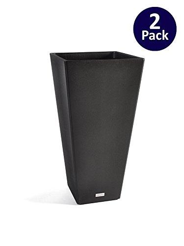 Veradek V-Resin Taper Tall Planter - Black - 32 in. - 2 pack by Veradek
