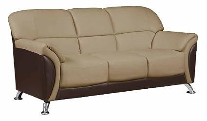 Amazon Com Global Furniture Sofa Cappuccino Chocolate Pvc Finish