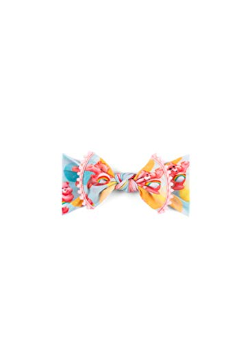Baby Bling Care Bears Printed Trimmed Knot Girls Baby Headband - Pastel Bubble]()