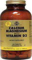 Solgar, Calcium Magnésium avec vitamine D3, 300 comprimés