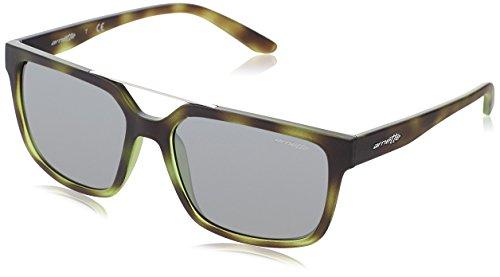 Arnette Men's Mirrored AN4231-24286G-57 Green Square Sunglasses (Green Sunglasses Arnette)