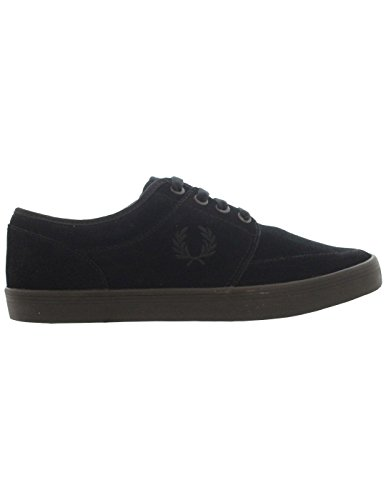Fred Perry Stratford Suede Uomo Sneaker Nero