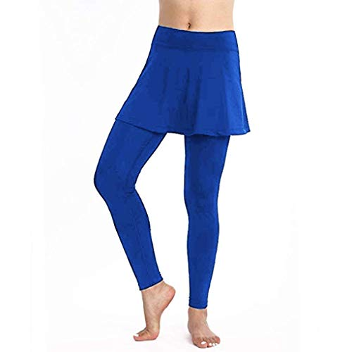 - TOTOD Skirt Leggings, 2019 New Women's Casual Tennis Pants Sports Fitness Culottes Blue