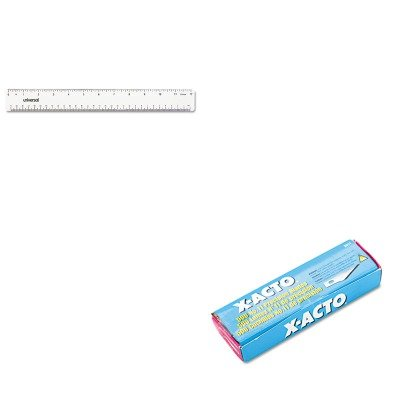 KITEPIX511UNV59022 - Value Kit - X-acto 11 Bulk Pack Blades for X-Acto Knives (EPIX511) and Universal Acrylic Plastic Ruler (UNV59022)