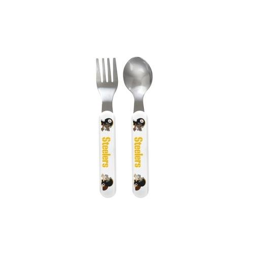 Baby Fanatic Fork and Spoon Set, Pittsburgh Steelers
