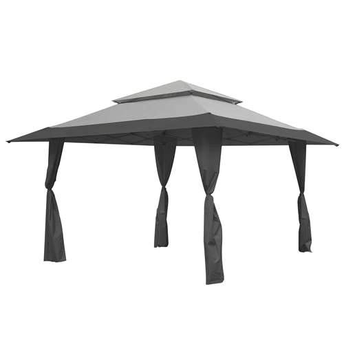 - Z-Shade 13 x 13 Foot Instant Gazebo Canopy Tent Outdoor Patio Shelter, Gray