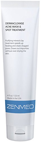 ZENMED Derma Cleanse Acne Mask & Spot Treatment - 4 oz Montmorillonite-clay based Acne treatment that helps heal pimples fast ()