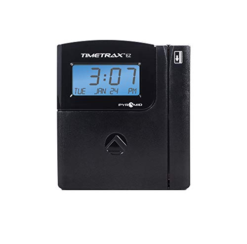 rax Automated Swipe Card Time Clock System with Software, Black ()