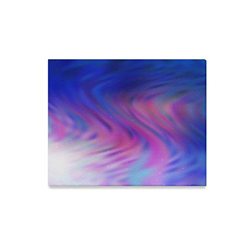 Wall Art Painting Dark Pink Blue Galaxy Prints On Canvas The Picture Landscape Pictures Oil for Home Modern Decoration Print Decor for Living Room ()