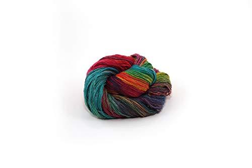 (Premium Anamika Lace Weight Silk Multicolor Zari Yarn | Beautiful Handmade Silk Yarn for Knitting, Crocheting, Weaving, Spinning or Gift Wrapping by Darn Good Yarn | 300 Yards)