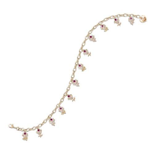 A Dozen Roses Ruby Engraved Charm Bracelet by The Bradford Exchange