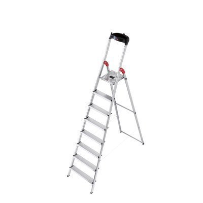 XXR 8 ft Aluminum Step Ladder with 330 lb. Load Capacity by Hailo