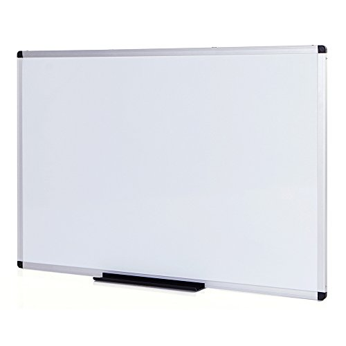 VIZ-PRO Dry Erase Board/Whiteboard, Non-Magnetic, 48 x 36 Inches, Wall Mounted Board for School Office and Home