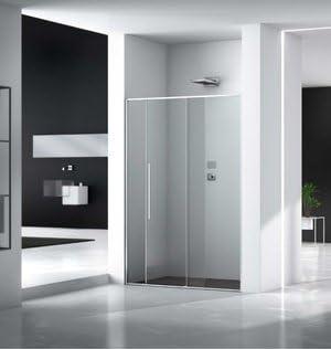 Mampara de ducha Zen acceso de cara (dos paneles fijas y un panel ...