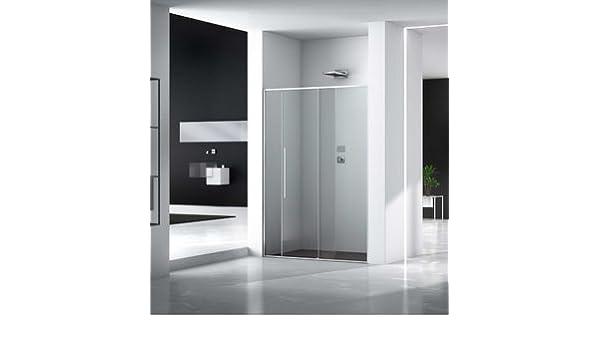 Mampara de ducha Zen acceso de cara (dos paneles fijas y un panel japonés de cara de cristal transparente o con marco serigrafiado de 6 mm: Amazon.es: Bricolaje y herramientas