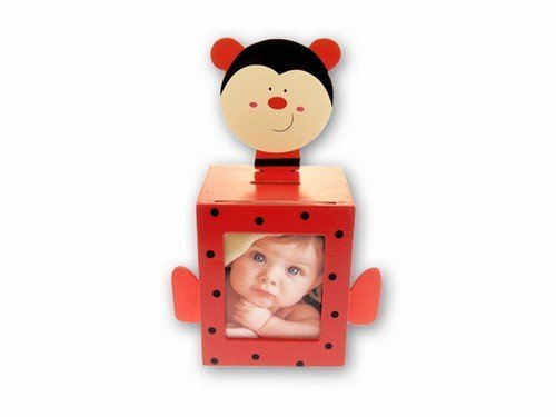 Ladybug Bank with Picture Frame -