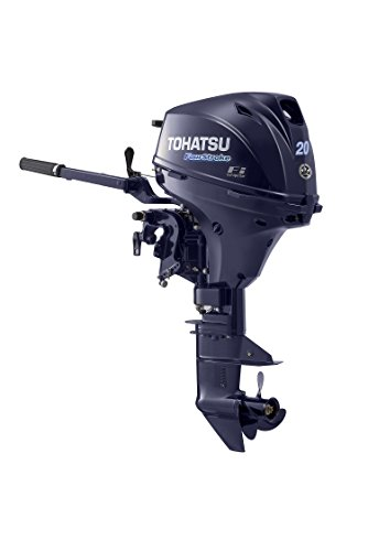 "2018 Tohatsu 20 HP 4 Stroke Outboard Motor 20"" Shaft Tiller EFI"